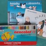 カランダッシュ (Caran d'Ache) のネオカラーと、チェコの塗り絵