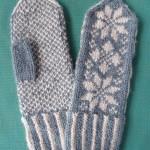 ヴォーグ社の「棒針編み〈入門コース〉通信講座」 第4回:「雪柄のミトン」
