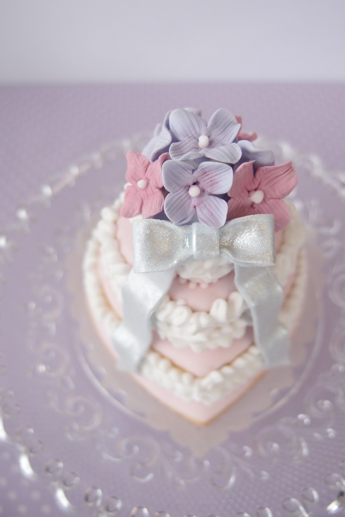 アジサイのケーキ