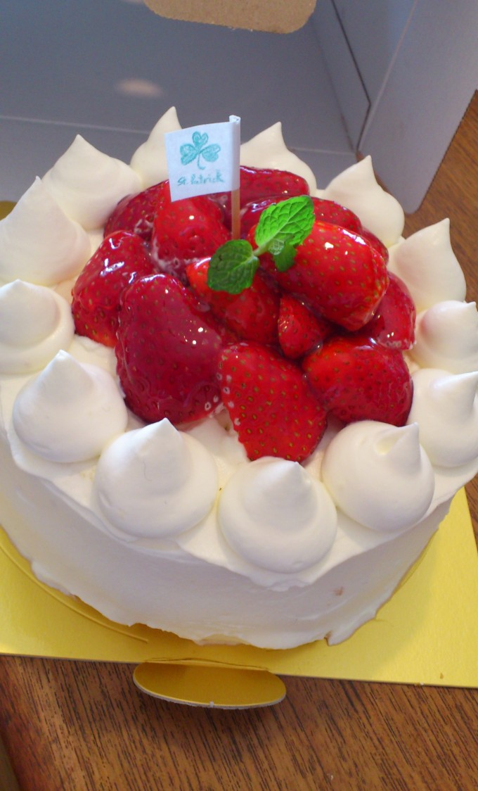 最初に作ったケーキ