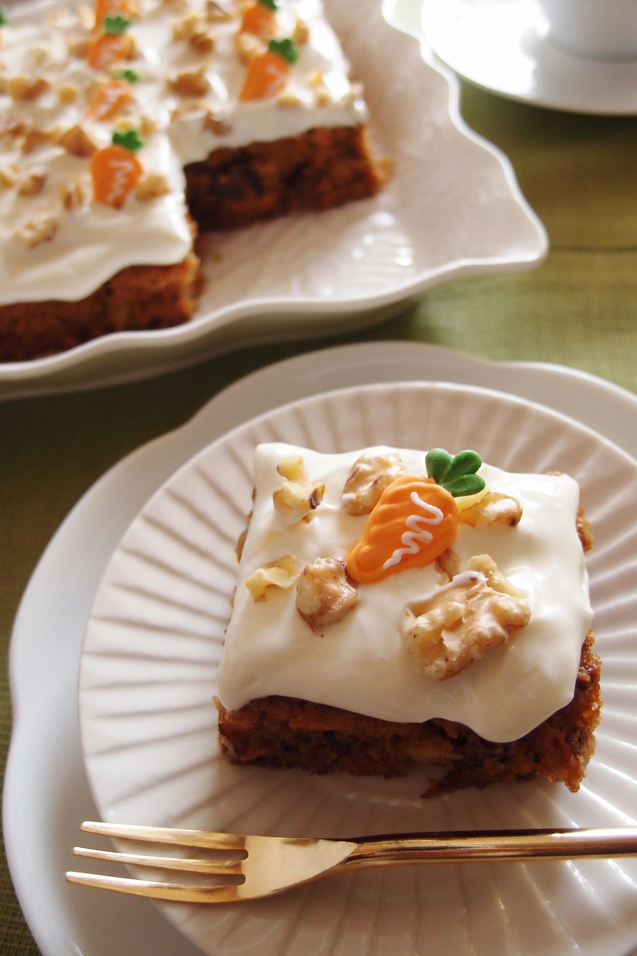 キャロットケーキなのに、にんじんの味がしないのはどうして?