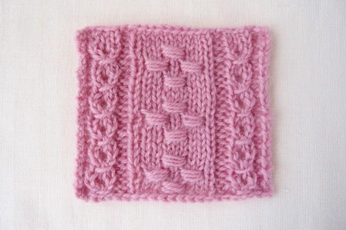 ノット編みの模様