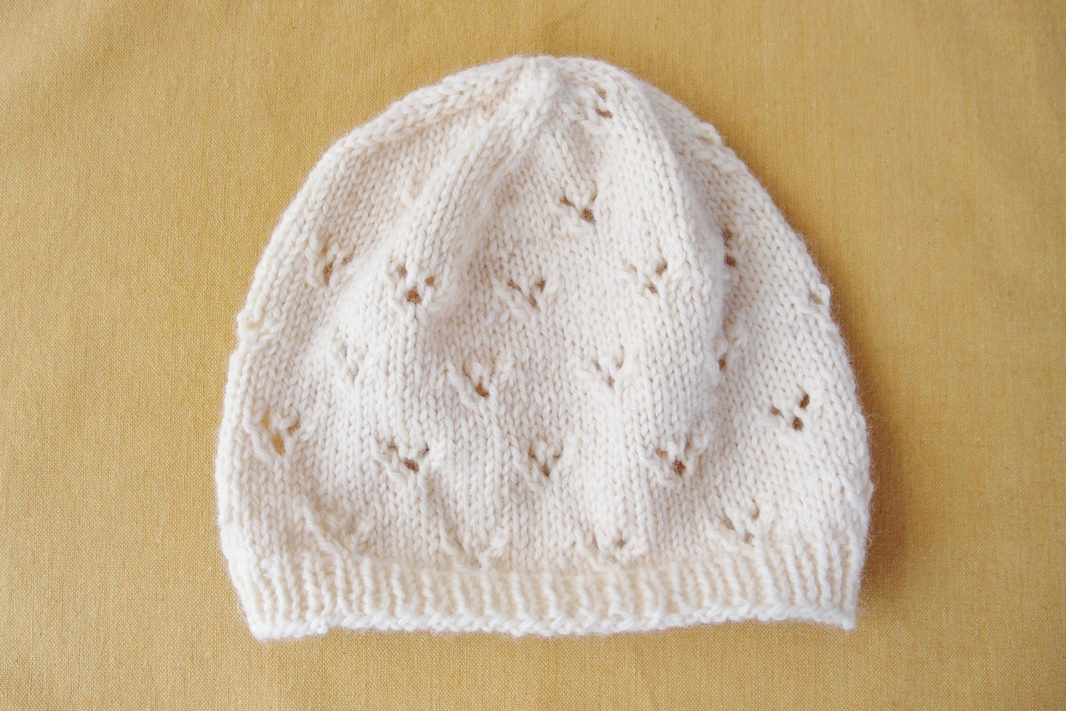 ヴォーグ社の「棒針編み〈入門コース〉通信講座」 第1回:「透かし模様のニット帽」