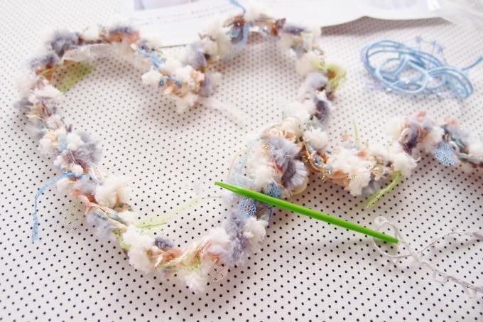 ゆび編みネックレス