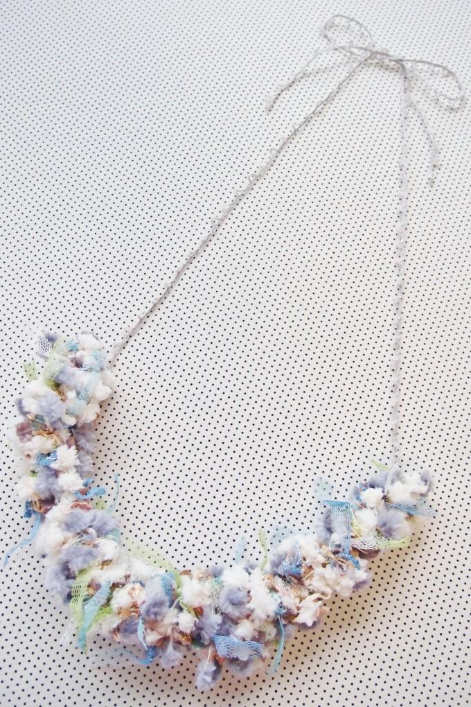 アヴリル ゆび編みネックレス