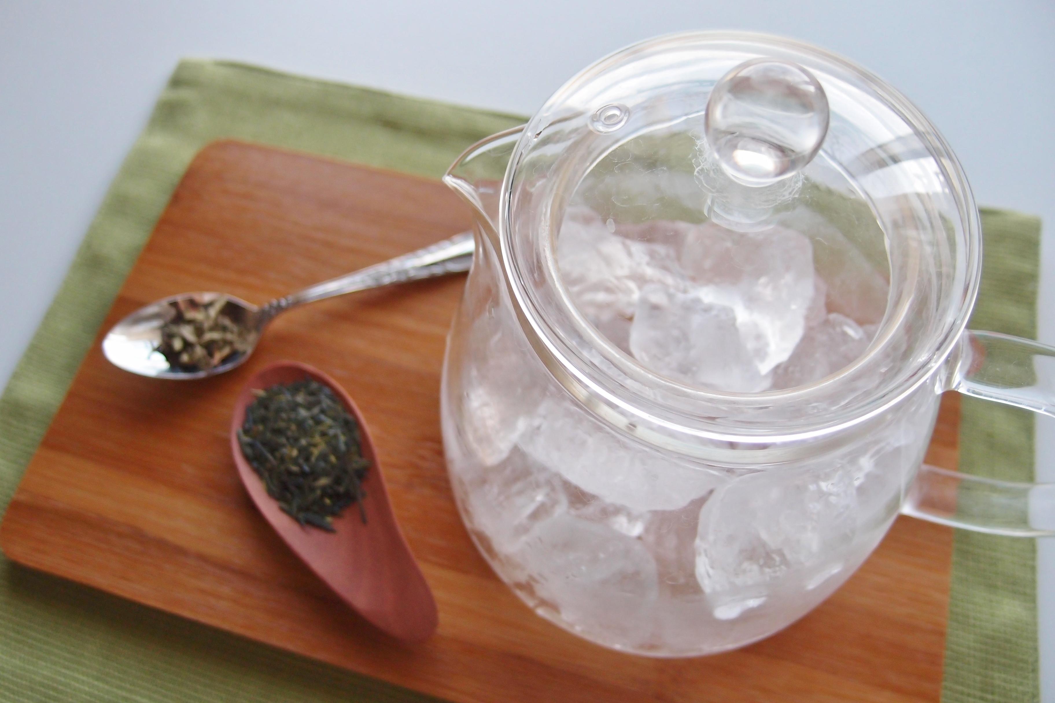 緑茶とペパーミントの氷出しブレンドティー