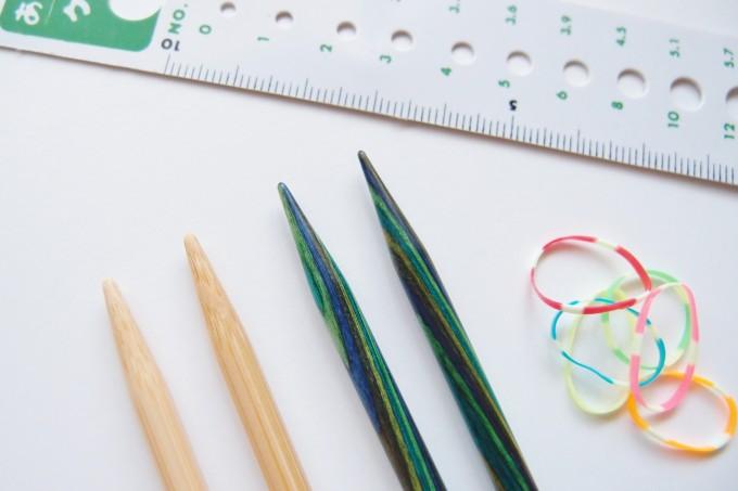 knitpicksの輪針と竹の針