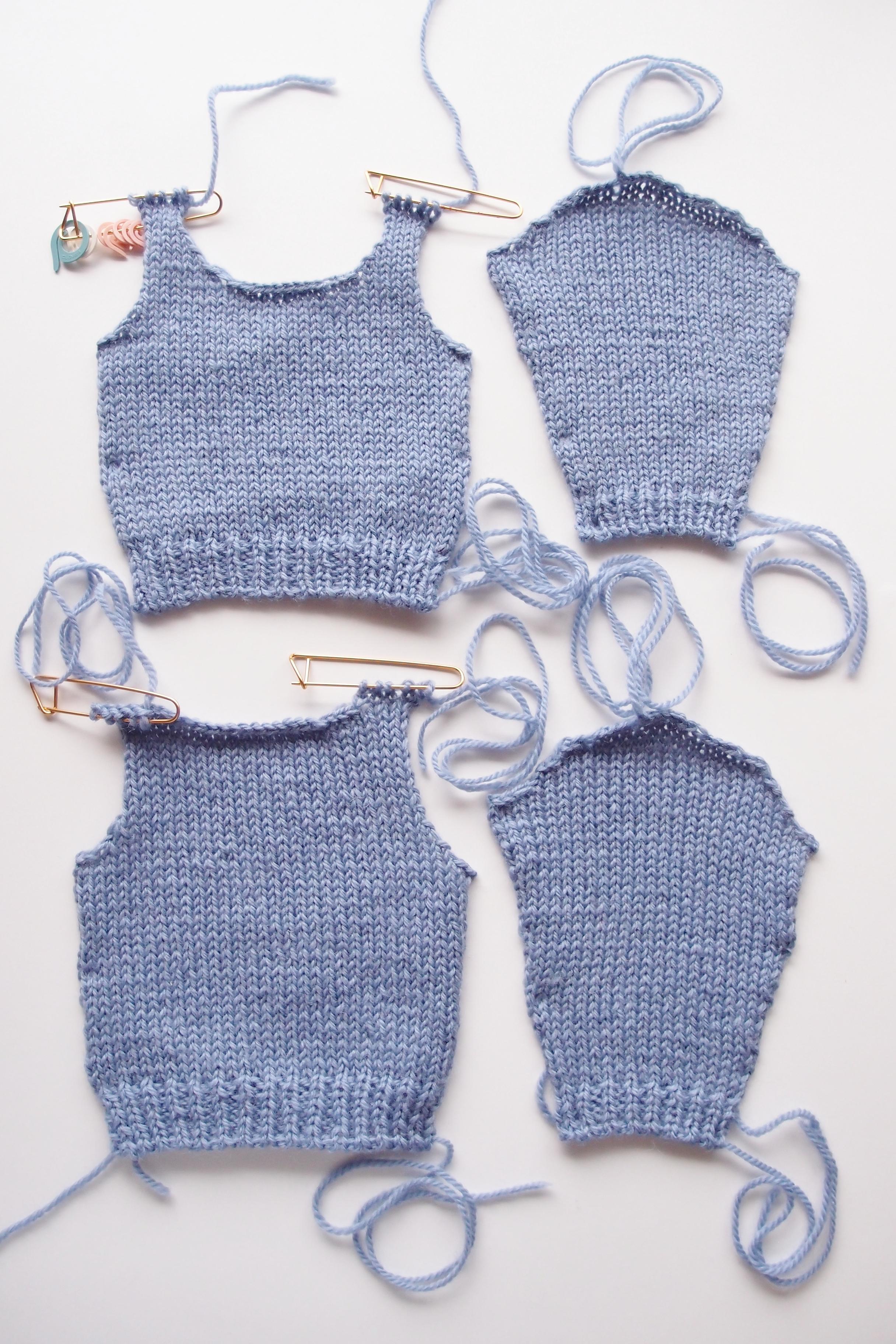 編みかけて放置されている作品を、はやく完成させたい!!