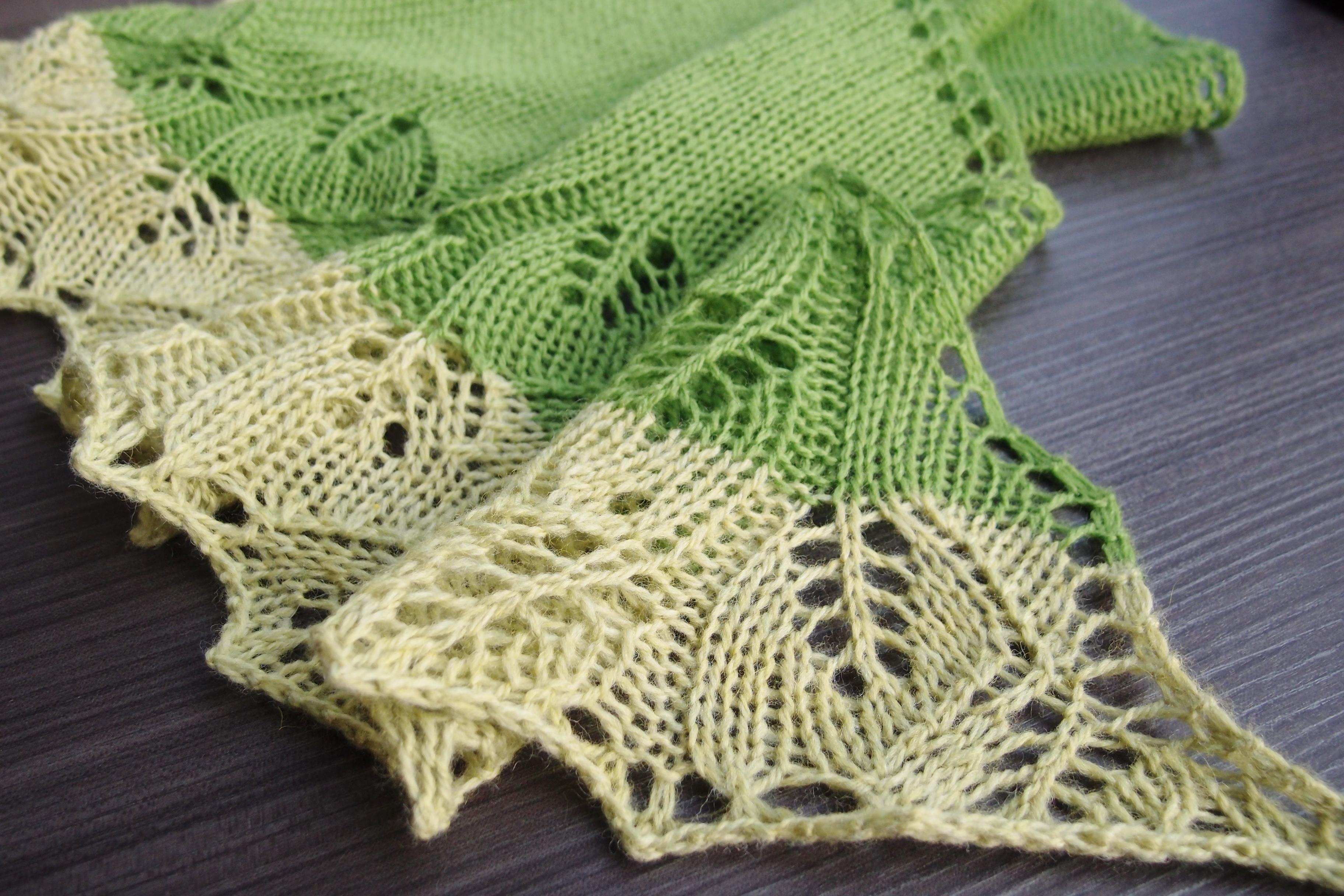 Ginkgo shawl、完成はしたものの・・・
