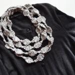 String of Beads Jewelry Set 完成!新しい技法: kfb (Kf&b) と K2tog tbl