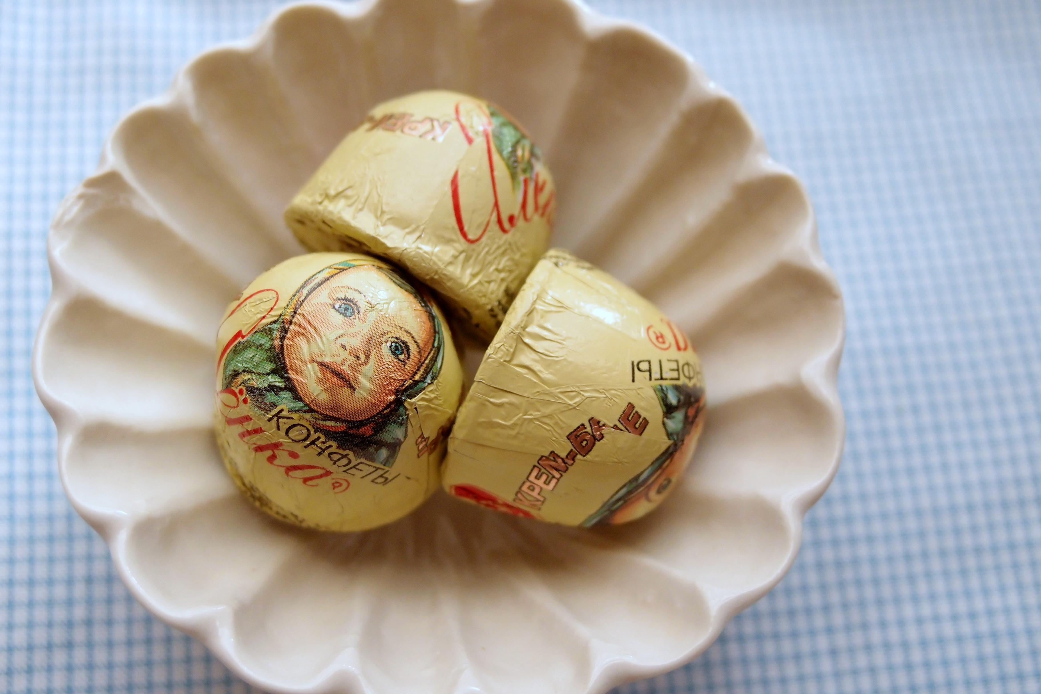 お土産でいただいた、ロシアのチョコレート