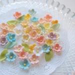 シュガーペースト(シュガークラフトの材料)で作る小さなお花の作り方 その1
