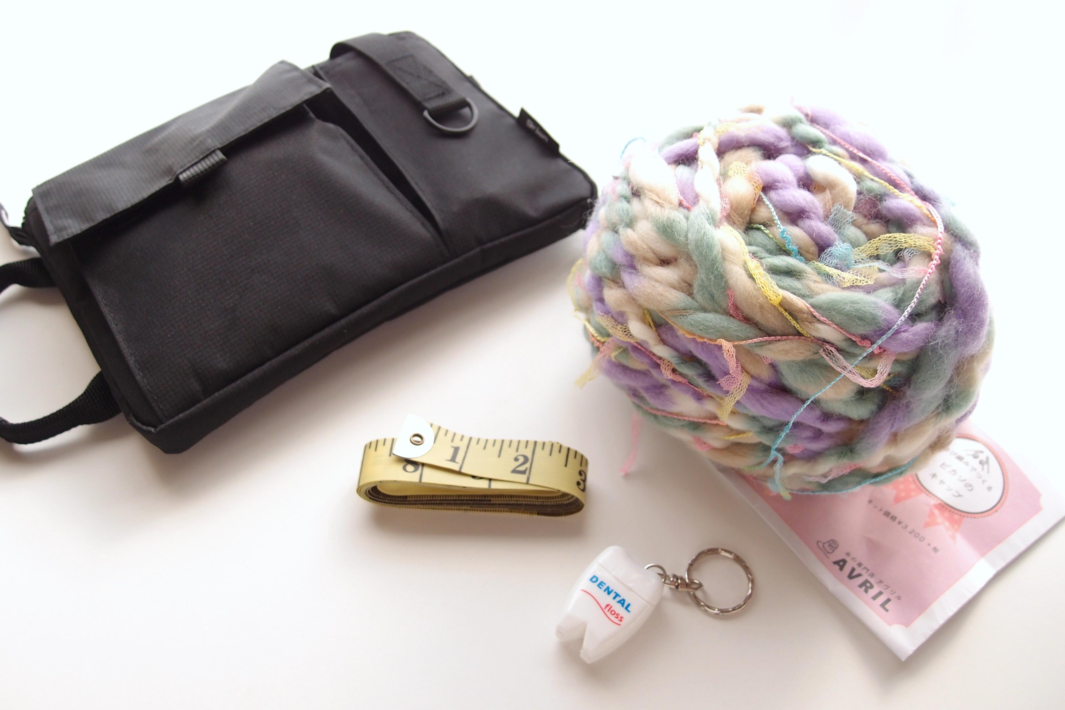イギリスに持っていく編み物道具。いまさらですが、編み物って少ない道具でできるんですね!