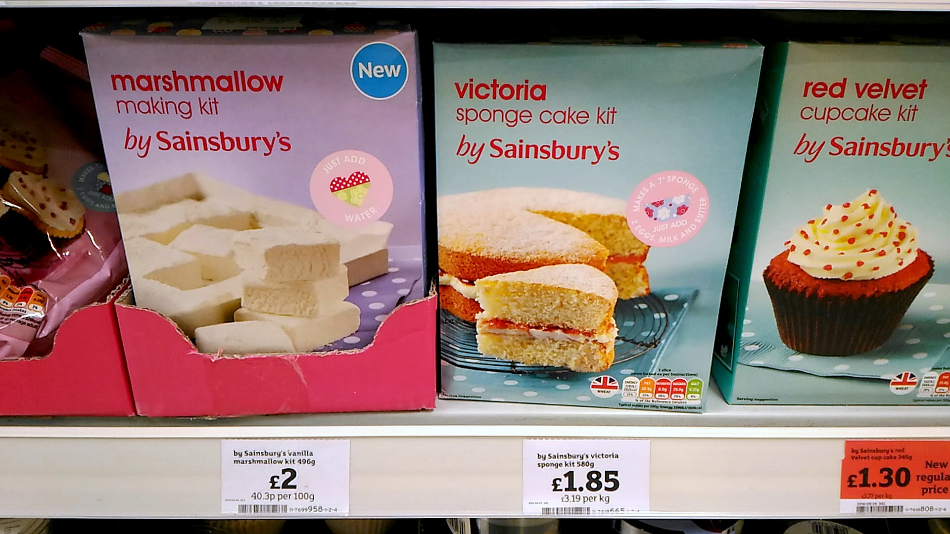 イギリスのスーパーで買える、お菓子作りの材料(Sainsbury's 編)