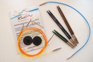 ニットプロ(Knitpro)・付け替え輪針の正しい付け方。ただねじって装着するだけでは不十分です!