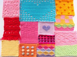 ロンドンの大学で受講した編み物のクラスで編んだもの