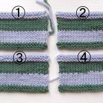 棒針編みで糸を替えるとき、後で糸端の処理をせずに済む方法  (糸の付け方考察 part 2)