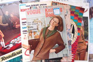 イギリスで集めてきたヴィンテージのパターン(編み図)50年代~90年代まで色々あります!