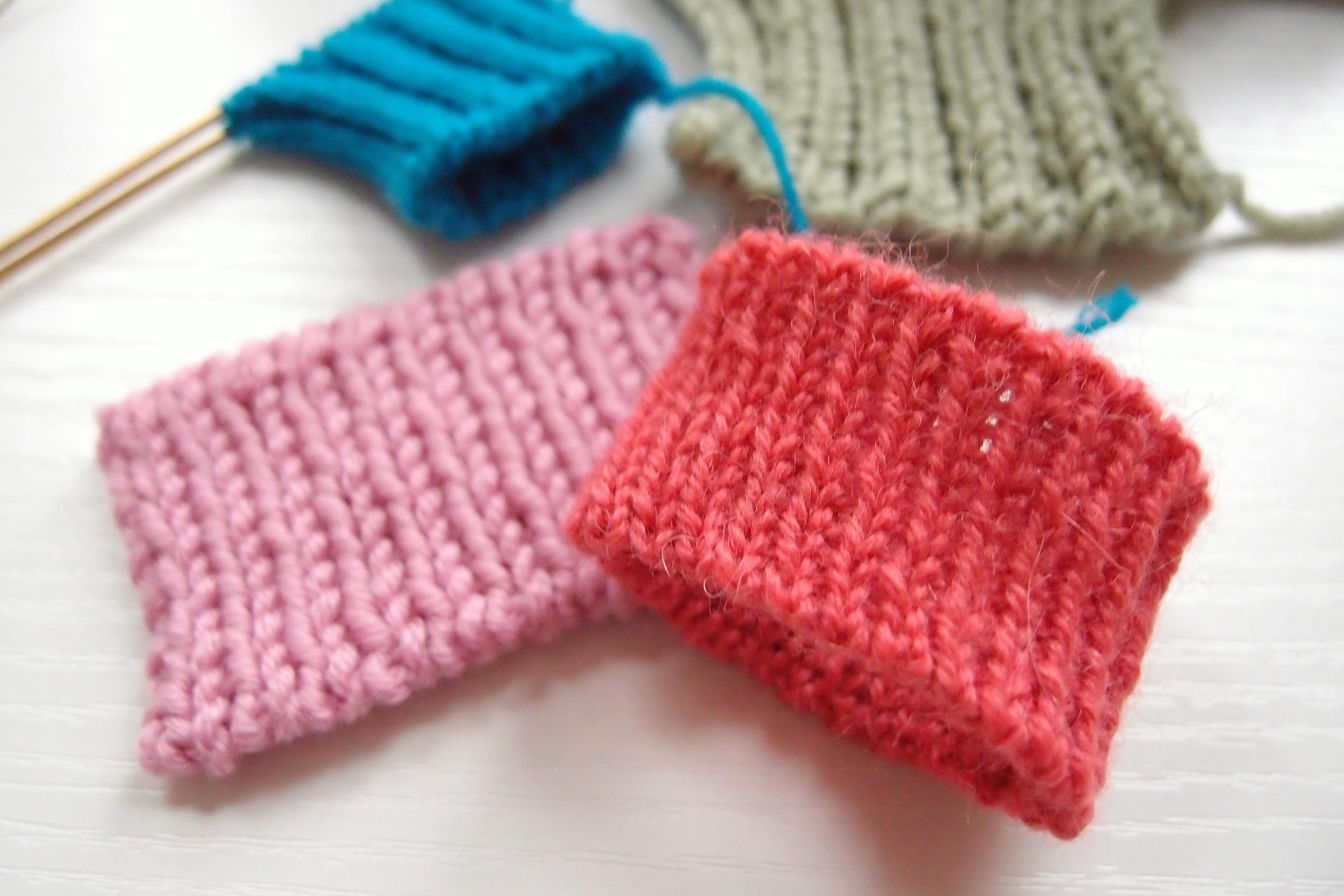 目 編み 二 目 ゴム 作り