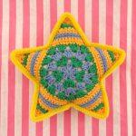 星のクッション・かぎ針編み編。今度はグラニーペンタゴンを編んでみました!