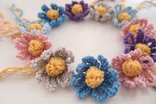 コットンヤーンで編むかぎ針編みのお花。そして、ついに帰国します!