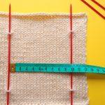 平編みと輪編みのゲージの違いについて、気になったことを検証してみました