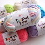 最近100均で購入した編み物グッズ。100均には、手芸に使えそうな材料や道具がたくさん売っています