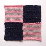 【フェリシモ】『アフガン編みのサンプラーの会』は、アフガン編み初心者の私にも楽しく編むことができました!