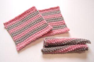 フェリシモのアフガン編みのキットで、編地が正方形にならないという問題(Part 1)