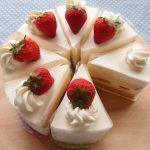 イチゴのショートケーキ2個目。生クリームの扱い方を変えてみた。