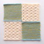 【フェリシモ】『アフガン編みのサンプラーの会』3回目。プレーン編みの新しい模様に挑戦!