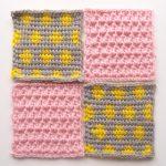 【フェリシモ】『アフガン編みのサンプラーの会』4回目。多色編みが出てきました!