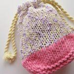 【アヴリル】アヴリルの巾着のキットを編みました。制作のコツ・気づいたことなどをレポします。
