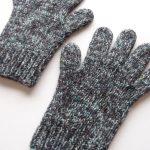 【アヴリル】アンゴラネップの手袋を編みました。カラフルなネップがお気に入りです♪