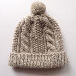 【アヴリル】シンプルウールのアランニット帽子を編んだら、たくさんのことを学びました!