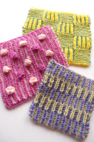 Brioche Knitting(イギリスゴム編み)のスワッチを編んでみました