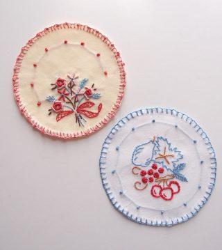 【フェリシモ】刺繍キット「はじめてさんのきほんのき」の番外編ードイリーの縁の仕上げ方について