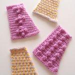 【フェリシモ】アフガン編み「はじめてさんのきほんのき」の会 4回目。増やし目・減らし目と玉編みを学びました
