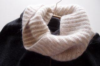 ブリオッシュ編み (Brioche knitting/イギリスゴム編み) のネックウォーマーを編みました