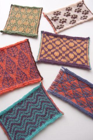 alterknit に載っていた編みこみ模様を編んでみました。糸を編みくるむ方法やスティークの補強など、学んだことをメモしておきます