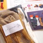 【フェリシモ】シルク素材でできた5本指の冷えとり靴下と『クチュリエの種』12月号