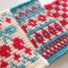 【フェリシモ】アフガン編み「はじめてさんのきほんのき」の会 5回目。編みこみ模様を編むときに重要なポイントを学ぶ