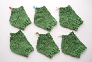 ドイツ式引き返し編み(German Short Row)で編む靴下のかかとのバリエーションを比較してみました