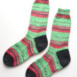 Opal で編むマチ付きの靴下、第2段を編みました!