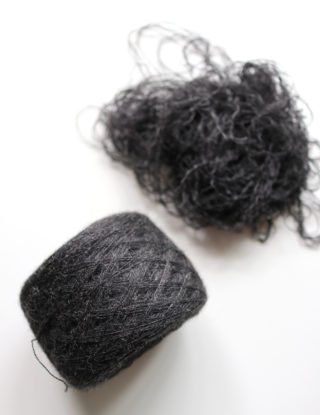【リサイクル毛糸②】今度はアルパカ100%のセーターをほどいて、毛糸にしたのですが・・・