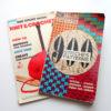 Mon Tricot と言うフランスの編み物雑誌に載っていたモチーフを編んでみました