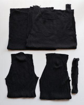 【リサイクル毛糸③】毛90%、シルク10%のセーターを毛糸玉に戻す