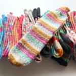 """Opal の気仙沼カラー、""""遊園地"""" で編んだ靴下&靴下の編み方の動画を YouTube にアップする予定です!"""