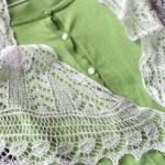 "【Ravelry】リサイクル毛糸で編んだ作品、3作目。""Edna Shawl"""