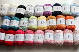 毛糸ピエロさんのコットンニィート、26色を購入したのでレビューします!